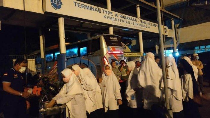 86 Santriwati Gontor yang Mudik di Lampung Jalani Protokoler Kesehatan Penanganan Covid-19