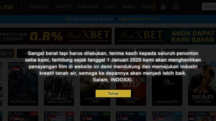 IndoXXI Klaim Tak Miliki 'Anak' Situs Layanan Streaming Ilegal