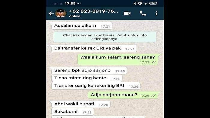 Akun Palsu Wakil Bupati Sukabumi & Facebooknya Diretas buat Meminta Uang Waspadai